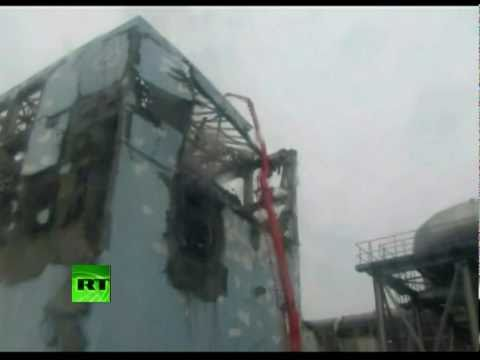 Fresh close-up video of Fukushima destroyed reactor, firefighters at plant